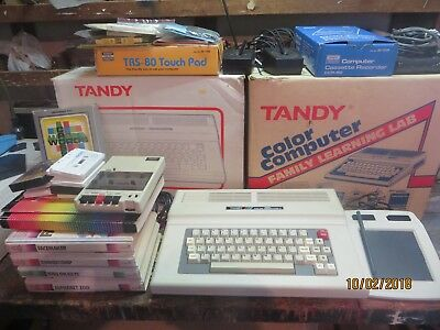 Tandy Colour Computer 3 Family Learning Lab plus software