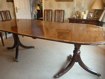 Regency Style Inlaid Mahogany Extending Dining Table