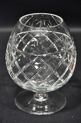 Royal Brierley Bruce Pattern Lead Crystal Cut Glass Brandy Balloon