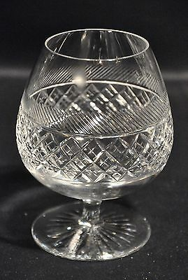 "Tudor Crystal Holbein Pattern Lead Crystal Large 5.25"" Brandy Glass"