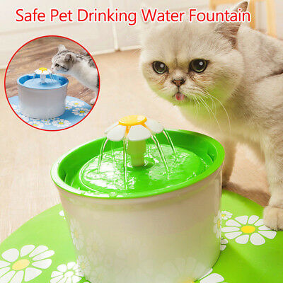 1.6L Flower Style Automatic Electric Pet Water Fountain Dog/Cat Drinking Bowl