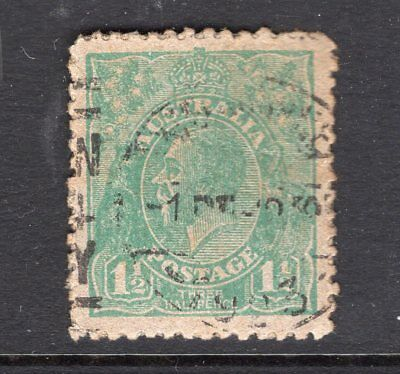Australia strange KGV 1½d on thick card (no w/m) see scans x 2