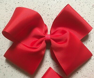 8 Inch bow RED ( JoJo Inspired) School Colours Post From Melb