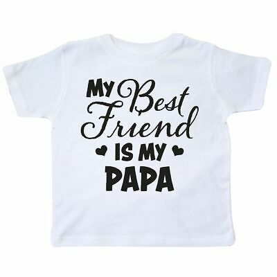 Inktastic My Best Friend Is My Papa With Hearts Toddler T-Shirt Family Dad Love