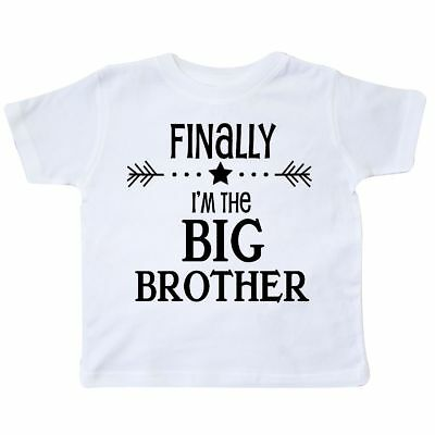 Inktastic Finally I'm The Big Brother Toddler T-Shirt Siblings Little Sister New
