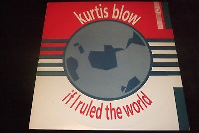 "KURTIS BLOW Vinyl 12"" IF I RULED THE WORLD cw Dub version/Inst. version"