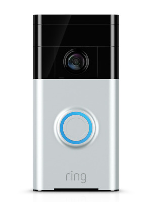 Ring Satin Nickel Video Doorbell 9 Months Warranty, Lifetime Purchase Protection