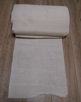 "Vintage Handwoven Cotton Fabric Canvas wide 33cm/13"" lenght 29m"