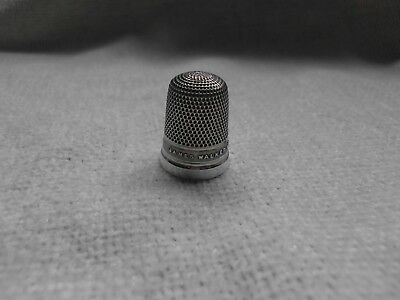 Sterling Silver James Walker Wishes You Luck Thimble Chester 1891 ~ Hallmarked