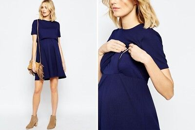 ASOS navy nursing dress size 12