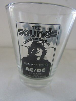 Acdc Australian Rock Band Shot Glass Ac/dc Summer Tour Lock Up Your Daughters