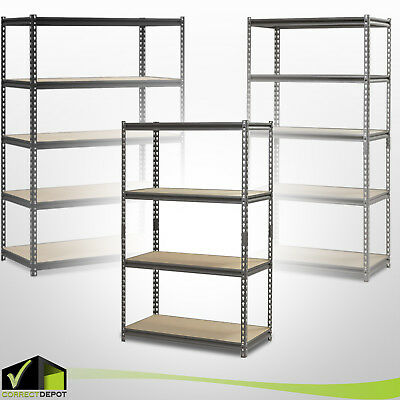 HEAVY DUTY MUSCLE RACK Adjustable Steel Storage Metal Shelves 4-5 Levels Units