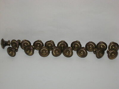 Vintage Brass Hardware Drawer Pull Knobs - NOS Lot of 18