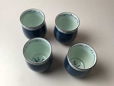 Blue and white porcelain Japanese Tea Cups