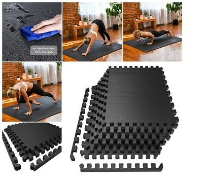 EXERCISE FLOOR MAT Fitness Puzzle Rug Pad Gym Workout Weight - Weight lifting floor pads