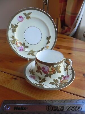 A bone china  TRIO  Cup and Saucer  and Plate made by EJD BODLEY   C 1880