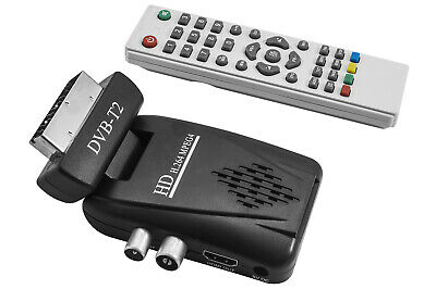 Decoder Digitale Terrestre Mini Digitale Dvb T2 Scart Hdmi Hd Telecomando