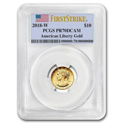 2018-W $10 High Relief American Liberty $10 Gold PCGS PR70 DCAM FS Flag