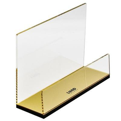 Flash Gold Mail Holder / Letter Rack Desk Tidy Organiser in Acrylic for...