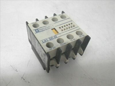 LA1 DN 22 LA1DN22 Telemecanique auxiliary contact block (Used and Tested)