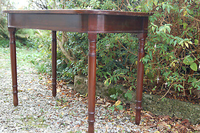 Vintage Mahogany curved front side hall console occassional table