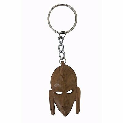Authentic African Mask Key Chain (Hand Made in Kenya - Wood)
