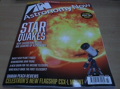 Astronomy Now magazine Mar 2018 Star Quakes +Night Sky Guide +NASA planet finder