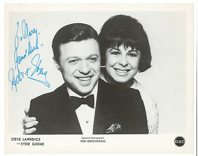 Steve Lawrence and Eydie Gorme Vintage Signed Publicity Photo / Autographed