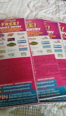 2 for 1 vouchers for alton towers,legoland,thorpe park etc x 4