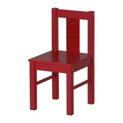 RED IKEA Kritter Wooden Chair Kids Childrens Nursery Home Solid Wood