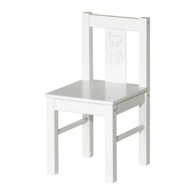 WHITE IKEA Kritter Wooden Chair Kids Childrens Nursery Home Solid Wood