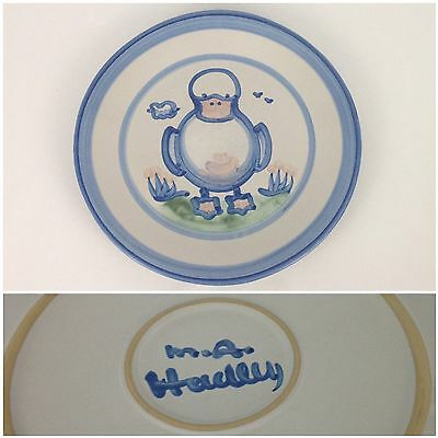 """M.A. Hadley Blue Duck Country Scene 11"""" Dinner Plate Pottery"""