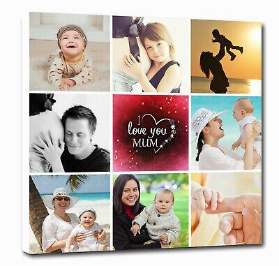 Personalised Canvas Collage Prints Photo Image - Mother's Day Mum