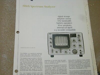 Hp 3580A Spectrum Analyzer Introductory Brochure 1973