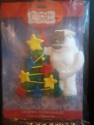Abominable Snowman Ornament Rudolph the Rednose Reindeer Personalize