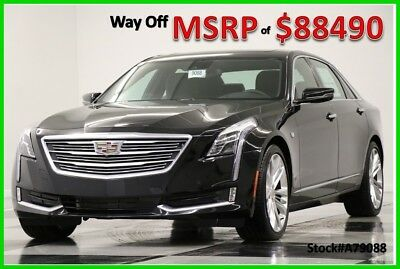 2017 Cadillac CT6 CT6 MSRP$88490 AWD Platinum DVD Sunroof GPS Black New Leather 3.0L Twin Turbo Magnetic Ride 20 Inch Wheels 17 Wheels Auto Player