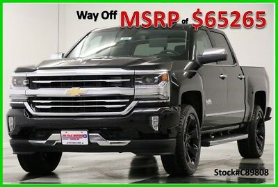 2018 Chevrolet Silverado 1500 MSRP$65265 4X4 High Country DVD Sunroof Black Crew 4WD New Navigation Heated Cooled Seats 22 In Rims Navigation 17 2017 18 Cab 6.2L V8