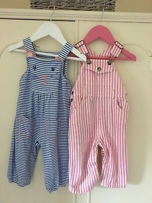 Baby Boden Dungarees X2 Girl 6-12 Months