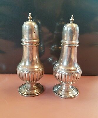 Vintage F B Rogers Sterling Salt and Pepper Shakers 118, Trade Mark 1883