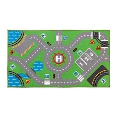 IKEA STORABO children's play rug kids mat for trains and cars 75x133 cm