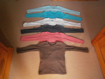 Frugi Mia Pointelle Long-Sleeved Tops/T-Shirts x 6 Age 4-5 Years (Play Wear)