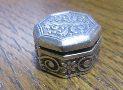 Vintage Beautiful Hallmarked Silver Pill Box