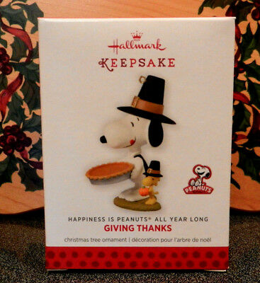 Hallmark Giving Thanks Peanuts Snoopy Thanksgiving Ornament  4th in series New