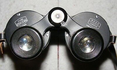 Ross Stepleven, 11x50, powerful good quality binoculars in case. Made in England