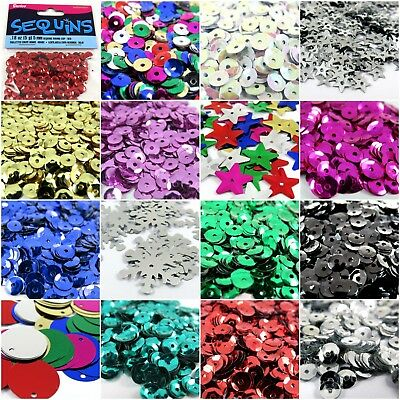 Darice loose round, cup, star & Snowflake sequins 5mm, 8mm, 10mm, 20mm - Sewing