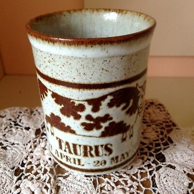 Taurus Dunoon Ceramic Birth Mug. 21St April - 20Th May. Made In Scotland. Mint.