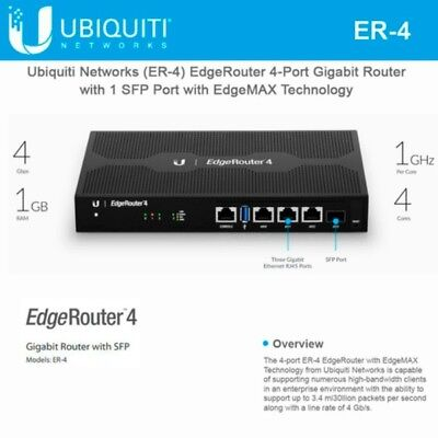 Ubiquiti EdgeMax ER-4 *NEW* EdgeRouter 4-Port