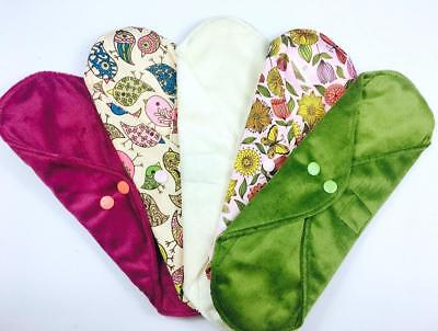 HEAVY Wildlife Collection - 5 Pack Cloth Sanitary Pads (CSP) Heavy Flow,...