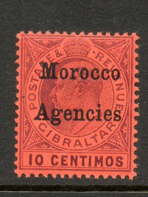 Gibraltar overprinted MOROCCO AGENCIES 10c Edward VII MCA Unmounted Mint