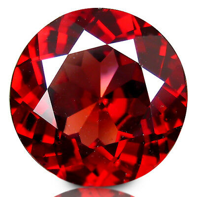 3.27Cts Natural Deluxe Red Color Almandine Garnet 9mm Round Collection VDO